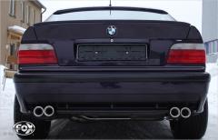 Catback deportivo BMW 3er line E36 M3 2x76 Tipo 13 doble duplex derecho / izquierdo Fox