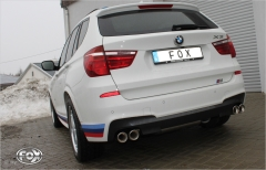 Escape final BMW X3 F25 3,0l 190/225kW 3,0l Gasolina final silencer 2x90 Tipo 17 doble duplex derecho / izquierdo Fox