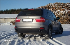 Escape final BMW X5 E70 (2007-2012) Diesel E70 tail pipes fitted on original final silencer 115x85 Tipo 38 doble duplex derecho / izquierdo Fox