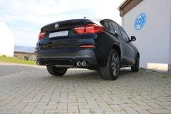 Escape final BMW X4 20d + 30d 20d/ 30d Final silencer exit left/right 2x90 Tipo 17 righ/left Fox
