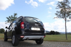 Escape final Dacia Duster 4x2 front wheels drive final silencer exit 1x90 Tipo 12 doble duplex derecho / izquierdo Fox