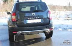 Escape final Dacia Duster 4x4 Facelift without tail pipes Fox