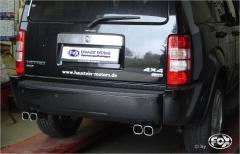 Escape final Dodge Nitro 2x78x75 Tipo 70 doble duplex derecho / izquierdo Fox