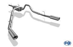 Catback deportivo Dodge RAM 1500 1x100 Tipo 17 doble duplex derecho / izquierdo Fox