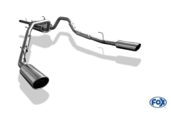 Catback deportivo Dodge RAM 1500 129x106 Tipo 32 doble duplex derecho / izquierdo Fox