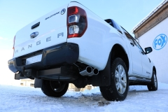 Escape final Ford Ranger Double Cap final silencer exit laterally rechts on the vehicle 2x115x85 Tipo 38 left Fox