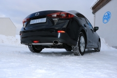 Escape final Mazda 3 BM - from 2013 BM final silencer doble duplex derecho / izquierdo without tail pipes Fox