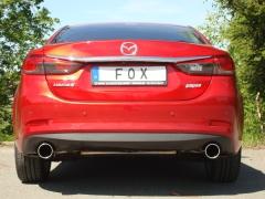 Escape final Mazda 6 GJ Limousine Diesel GJ Limousine final silencer doble duplex derecho / izquierdo 1x100 Tipo 16 doble duplex derecho / izquierdo Fox