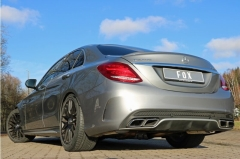 Escape final Mercedes C-Class 205 C63 S Klasse AMG C63 S final silencer doble duplex derecho / izquierdo Fox