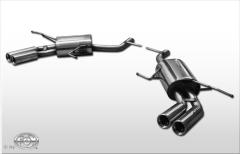 Escape final Mercedes G-Class 164 Class X164 final silencer doble duplex derecho / izquierdo 2x76 Tipo 13 doble duplex derecho / izquierdo Fox