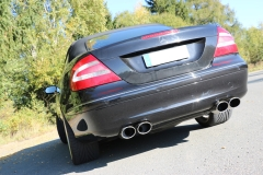 Escape final Mercedes CLK 209 2x115x85 Tipo 32 doble duplex derecho / izquierdo Fox