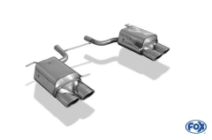 Escape final Mercedes SLK 172 4 cylinders 2x115x85 Tipo 32 doble duplex derecho / izquierdo Fox
