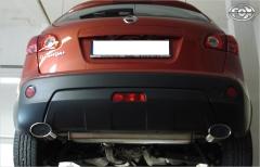 Escape final Nissan Qashqai J10 Gasolina 115x85 Tipo 33 doble duplex derecho / izquierdo Fox