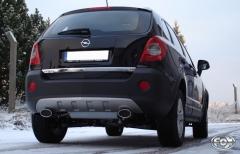 Escape final Opel Antara 140x90 Tipo 33 doble duplex derecho / izquierdo Fox