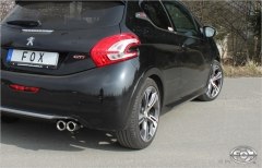 Escape final Peugeot 208 GTI 2x76 Tipo 13 Fox
