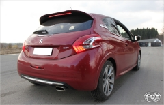 Escape final Peugeot 208 GTI 2x100 Tipo 16 Fox