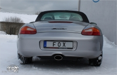 Escape final Porsche Boxster 986 2,7l 3,2l 2x80 Tipo 17 Fox