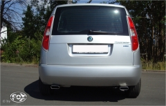 Escape final Skoda Roomster 130x50 Tipo 52 doble duplex derecho / izquierdo Fox