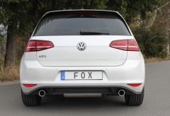 Escape final VW Golf VII 2,0l GTI GTI final silencer doble duplex derecho / izquierdo 1x90 Tipo 16 doble duplex derecho / izquierdo Fox