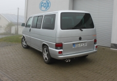Escape final VW T4 Front wheels drive one side Frontantrieb Bus/ Transporter/ Multivan/ Caravelle final silencer Fox
