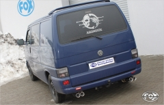 Escape final VW T4 Front wheels drive Duplex-system 2x80 Tipo 13 doble duplex derecho / izquierdo Fox