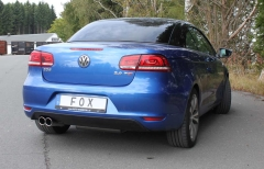 Escape final VW EOS 2,0l facelift Facelift final silencer on one side 2x80 Tipo 16 Fox
