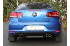Escape final VW EOS 1,4l - 2,0l 110kW - 2,0l TDI 100/103kW Facelift Facelift final silencer doble duplex derecho / izquierdo 2x80 Tipo 16 doble duplex derecho / izquierdo Fox