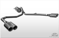 Escape final VW Amarok with footboard 2x80 Tipo 17 doble duplex derecho / izquierdo Fox